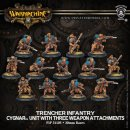 Cygnar Trencher Infantry & Attachments Unit Box (plastic)