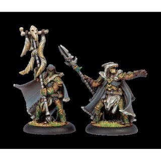 Circle Orboros Wolves Master of the Hunt & Totem Bearer (2)
