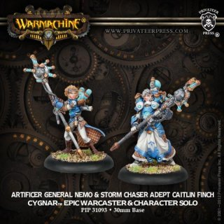 Cygnar Epic Warcaster - Artificer General Nemo & Adept Finch