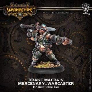 Mercenary Warcaster Drake Macbain Blister
