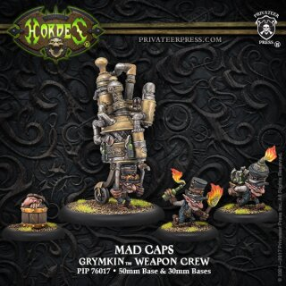 Grymkin Mad Caps Weapon Crew RESIN Blister Pack of 4