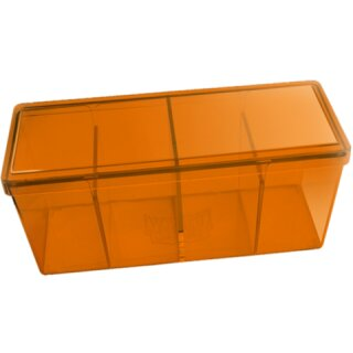 Dragon Shield Storage Box mit 4 Fächern - Orange