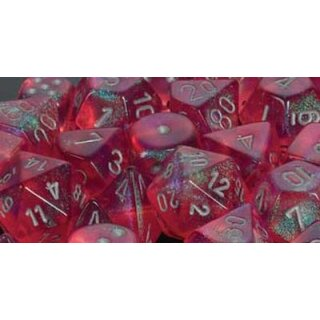 Borealis Pink w/silver Signature 16mm d6 with pips Dice Blocks (12 Dice)