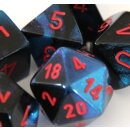 Black-Starlight w/red Gemini 16mm d6 with pips Dice...